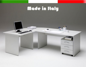 Scrivania Ufficio Misure : Set scrivania ufficio mis. 220 x 160 h 74 e cassettiera varie finiture