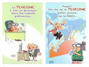 Conf 12 Pezzi Biglietti Auguri Pensione Mis 115x17