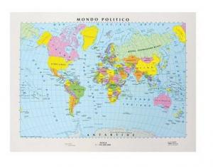 Cartina Politica Italia Formato A3.Carta Geografica Da Banco Cm 42x29 7 Italia Politica Fisica