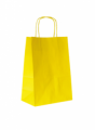 BUSTE SHOPPERS TORCIGLIONE GIALLO  cm 16x8x21 -  Conf. 25 pz