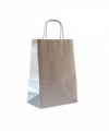 BUSTE SHOPPERS TORCIGLIONE ARGENTO CM 16X8X21 CONF. 25 PEZZI