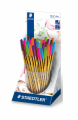 PENNE A SFERA STAEDTLER NORIS 434 COLORATE IN ESPOSITORE 30 PEZZI